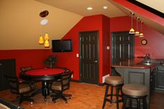 media room ideas for attic space | Hubby's Hang out - Media Room Designs - Decorating Ideas - HGTV