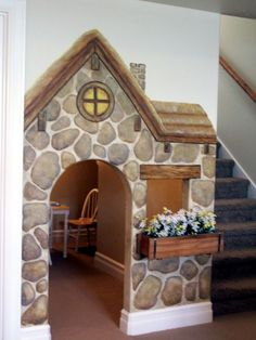 children's library interior design | ... Children's Storybook Playroom Interior Mural Idea Photo Design