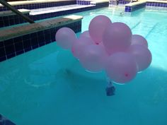 balloon pool decorations