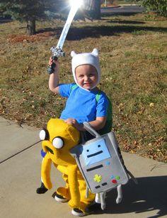 DIY Adventure Time costume - Finn, Jake, and BMO