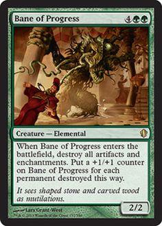 bane of progress mtg magic the gathering card green