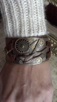 Unisex Brown leather Steampunk Large Diving by AlynneDesigns, $35.00