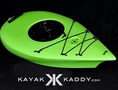 Kayak Kaddy® the Towable Storage Option for Kayaks and Stand up Paddle Boards-kayak Storage Accessory. Also Great for Wade Fishing and Spear Diving Lime Green
