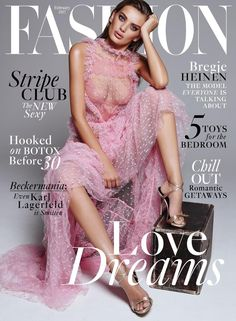 Bregje Heinen on FASHION Magazine February 2017 Cover