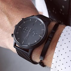 A black sensation - the Kingston matte black watch from Grand Frank. www.GrandFrank.com
