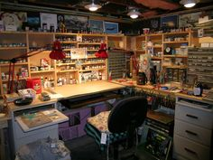 Hobby Model Desk and Workbench Photo by FokkerDrI Workshop Studio, Home Workshop, Garage Workshop, Hobby Desk, Hobby Room, Hobby Lobby, Tabletop, Desk Space, Space Crafts