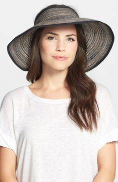 Nordstrom Woven Packable Visor available at #Nordstrom