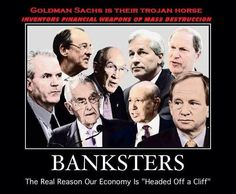 Banksters the real reason our economy is headed off a cliff   Anonymous ART of Revolution