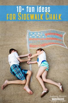 Kick summer boredom to the curb and keep the kids entertained this summer with these Fun Sidewalk Chalk Ideas! Sidewalk Chalk Pictures, Sidewalk Chalk Art, Emoticon, Chalk Photos, Fourth Of July Crafts For Kids, Summer Boredom, Fun Activities, Children Activities, Crafts To Do
