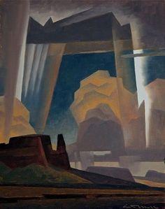 Ed Mell, Paintings - SOLD Ed Mell - Desert Drama