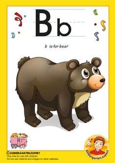 Preschool and Kindergarten Alphabet & Letters Worksheets Preschool Letter B, Letter P Activities, Preschool Activities, Childhood Education, Kids Education, Primary Education, Education Quotes, High School Counseling, Bear Crafts