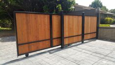 Fence Iron Gates Driveway Amazing Sliding Fence Gate Pictures Of for proportions 1027 X 892 Wood Privacy Fence Sliding Gate - A type of correction to deter him from crossing […] Sliding Fence Gate, Wood Fence Gates, Wood Privacy Fence, Wooden Gates, Front Gates, Metal Fence, Wooden Fence, Diy Fence, Fence Ideas
