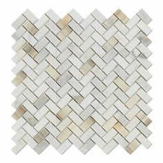 Calacatta Gold Marble Polished Mini Herringbone Mosaic Tile - American Tile Depot - Commercial and Residential (Interior & Exterior), Indoor, Outdoor, Shower, Backsplash, Bathroom, Kitchen, Deck & Patio, Decorative, Floor, Wall, Ceiling, Powder Room - 1