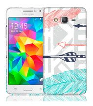 Samsung Galaxy Grand Prime Case Feathery Tribal  Cool Design Hard Phone Case | www.nucecases.com | #samsung #nucecases