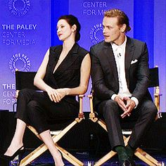 """Sam looking at Caitriona for """"clues"""" as to what is going on"""