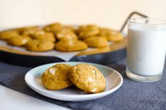 Chewy pumpkin brown butter white chocolate chunk cookies #sweets #cookies #DitchtheRecipe