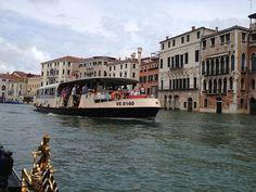 Veporeto on Canal Grande. Venezia, Venice, Benátky