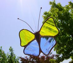 Handmade Stained Glass Butterfly Sun Catcher  by JBsGlassHouse
