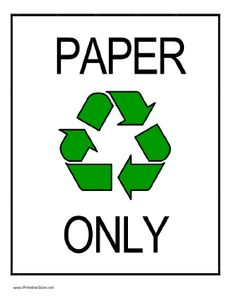 Poster - Remember to Recycle Paper! and other recycling ...