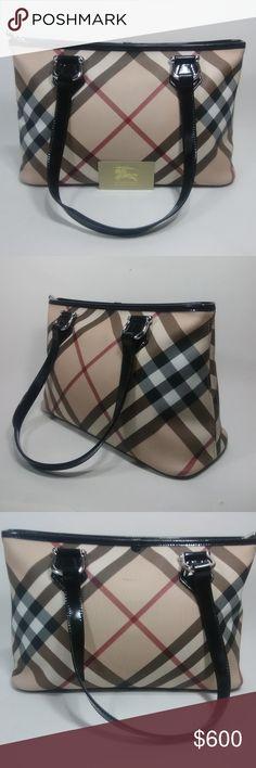 61fb8729966 New BURBERRY SuperNova Check Stanton Tote Bag