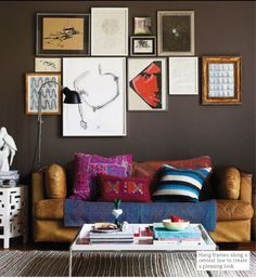 Carmel leather and grey walls