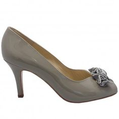 Peter Kaiser Rosa notte navy patent kitten heel shoes - trendy low ...