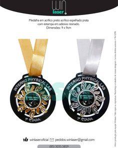 Medalha personalizada em acrílico. pedidos.winlaser@gmail.com  #winlaser #medalhas #medalha #esporte #esportes #acrilico #acrilyc #mdf #cortealaser #gravacaoalaser #lasercut #personalizado #premiacao #homenagem by winlaser.oficial