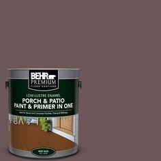 BEHR Premium 1 gal. #N120-7 Grand Plum Low-Lustre Interior/Exterior Paint and Primer In One Porch and Patio Floor Paint