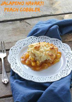 Jalapeño Havarti Peach Cobbler