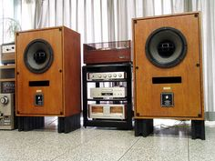 Altec 604-8G speakers. One of the most life like speaker systems ever created. Amazing, =)