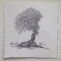 """Fine tip archival black ink on drawing paper 4 x 4  """"Feel Good One Ofs"""" are one of a kind, not copied or duplicated, original and unframed, fine art drawings by Andrea Currie. Each unique fine art illustration is stamped and signed by the artist as well as signed and dated on the back. Recycli..."""