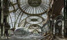 Voyages extraordinaires  incredible fantasy at by Jean Francois Rauzier. I can imagine a fantasy dinner here
