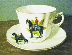 SALE Royal Canadian Mounted Police Tea Cup by mainevintagetreasure