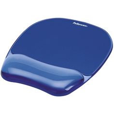 Ergonomic pad conforms to the wrist for all-day comfort. Provides soothing support while redistributing pressure points. Stain resistant; wipes clean with a damp cloth. Non-skid rubber backing keeps pad in place. Stylish, transparent gel adds color to your workspace.