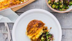 Shepherd's pie with charred brocolli