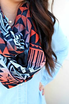 Geometric Infinity Scarf | uoionline.com: Women's Clothing Boutique