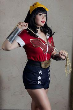 DC Comics Bombshells Wonder Woman Diana handmade by RSonlineShop