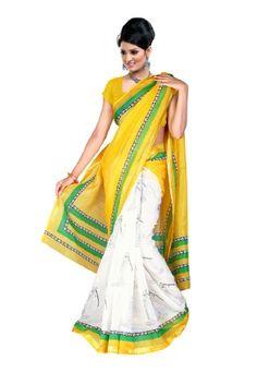Fabdeal Indian Designer Wear Yellow Printed Saree Fabdeal,http://www.amazon.com/dp/B00EQE9UT8/ref=cm_sw_r_pi_dp_xTtptb0P76JDHG57