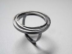 Oxidized sterling silver ring from Lias collection by TassJoies, €50.00