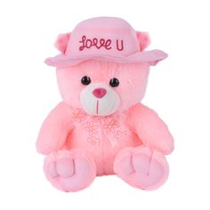 Ultra Cap Teddy Soft Toy with Love You 9 Inches - Pink Cute Teddy Bear Pics, Teddy Bear Images, Teddy Bear Day, Teddy Bear Cartoon, Teddy Photos, Teddy Bear Pictures, Teedy Bear, Bear Decor, Bear Wallpaper
