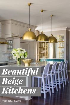 These designs prove beige is anything but boring. For a timeless, neutral color that plays well with others, consider bringing beige into your kitchen's design.