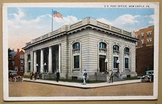 1904 Federal Post Office106 East North Street, New Castle PA 16101In 1934 it was converted to a Public Library by the W. G. Eckles Company
