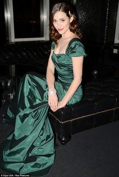 Emmy Rossum...loving the dress!