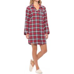 KayAnna Flannel Nightshirt - Long Sleeve (For Women) 10d6fc9d5