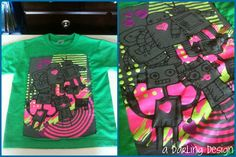 """green robot family up-cycled kids t-shirt  For Sale $3  http://adarlingdesign.storenvy.com/products/404247-upcycled-t-shirt    please do not remove """"a darling design"""" or repost as your own"""