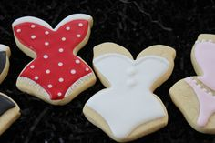 Lingerie Shower Cookies, Bridal Shower Favors, Wedding, Valentine's Day Cookies, Sexy Lingerie Pajamas