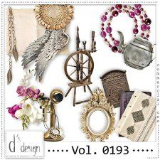 Vol. 0193 - Vintage Mix  by Doudou's Design  #CUdigitals cudigitals.comcu commercialdigitalscrapscrapbookgraphics #digiscrap