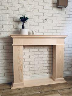 Fireplace Facing, Faux Fireplace Mantels, Christmas Fireplace, Fireplace Surrounds, Diy Bedroom Decor, Living Room Decor, Diy Home Decor, Diy Cabinet Doors, Diy Furniture