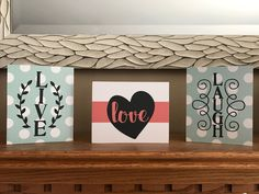 I love this expression installed on one of our three block kits with fun scrapbook paper Mod Podged on the blocks and vinyl applied over top!