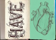 'Have heart' Quotes By Famous People, Picture Quotes, How To Draw Hands, Artsy, Heart, Hand Drawn, Beautiful, Hand Reference, Handwriting